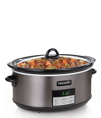 Crock-Pot Stainless Collection 8-Quart Programmable Slow Cooker