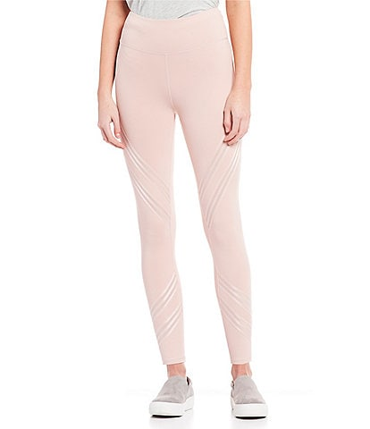 Cut The Frills Sheer Stripe Zig Zag Legging
