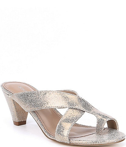 Donald Pliner Vilo Metallic Leather Dress Sandals