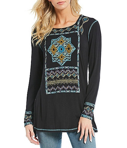 Double D Ranch World Nomad Embroidered Tunic Top
