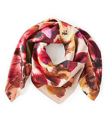 Echo Floral Bouquet Square Scarf