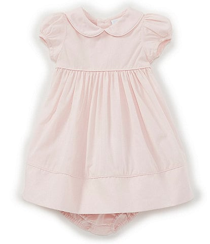 Edgehill Collection Baby Girls Newborn-24 Months Peter-Pan Collar Solid A-Line Dress