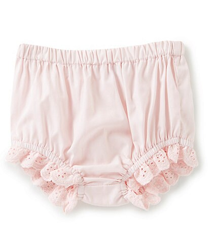 Edgehill Collection Baby Girls Newborn-24 Months Lace Detail Panty Cover