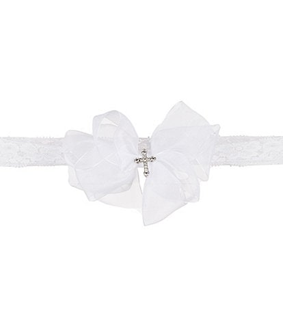 Elegant Baby Baby Girls Christening Lace Headband
