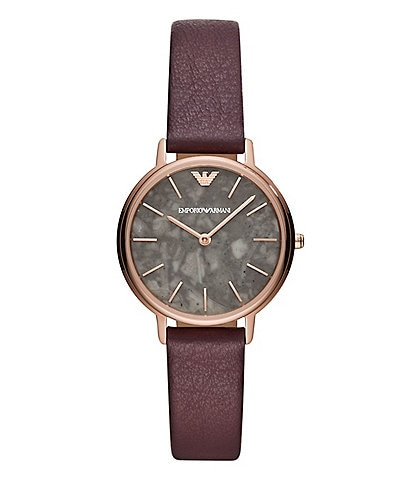 Emporio Armani Kappa 32mm Purple Strap Watch