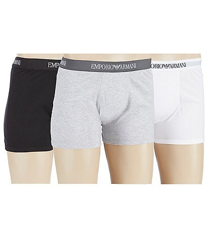 Emporio Armani Pure Cotton Boxer Briefs Assorted 3-Pack