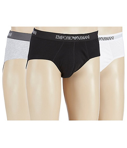 Emporio Armani Pure Cotton Briefs Assorted 3-Pack