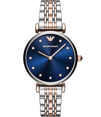 Emporio Armani Two-Tone Analog Bracelet Watch