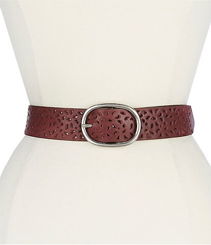 Fashion Focus Laser Perforated Belt