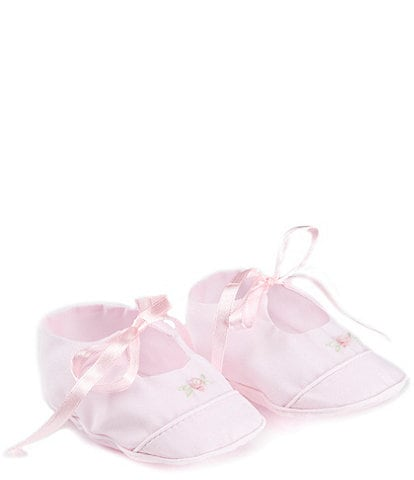 Feltman Brothers Baby Girls' Mary Jane Rose Flower Detail Booties