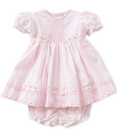 Friedknit Creations Baby Girls Newborn-9 Months Ruffle Dress