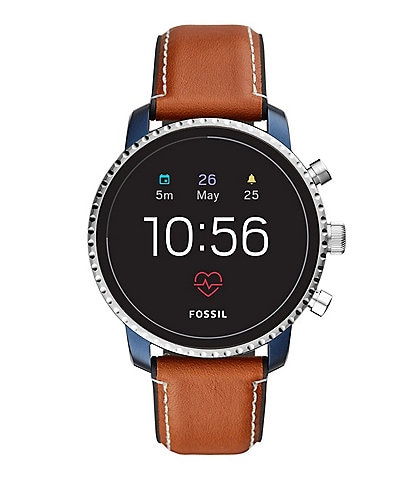 Fossil Gen 4 Smartwatch - Q Explorist HR Tan Leather
