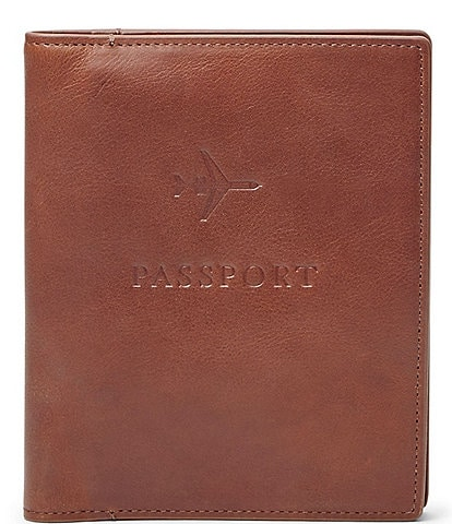 Fossil Leather RFID Passport Case