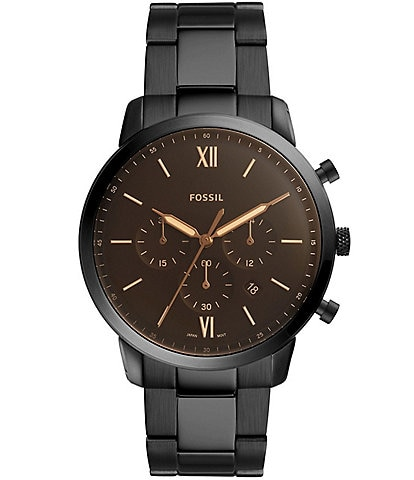 Fossil Men's Neutra Chronograph Black Stainless Steel Watch