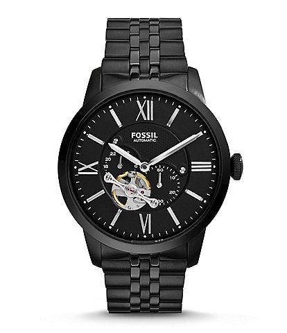 Fossil Townsman Automatic/Multifunction Black Stainless Steel Bracelet