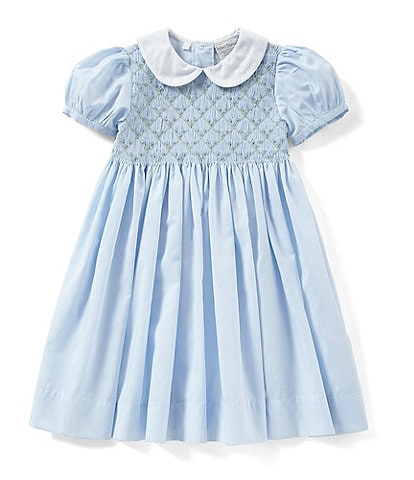 Friedknit Creations Baby Girls 12-24 Months Floral Printed Smocked Dress