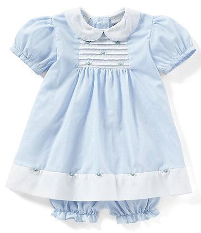Friedknit Creations Baby Girls 3-9 Months Rosette Pintuck Dress