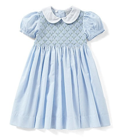Friedknit Creations Little Girls 2T-4T Floral Printed Smocked Dress