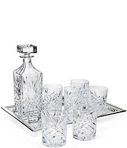 Godinger Dublin Diamond-Cut Crystal 8-Piece Whiskey Set