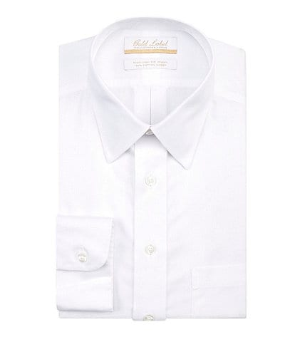 Gold Label Roundtree & Yorke Big & Tall Non-Iron Point-Collar Solid Dress Shirt