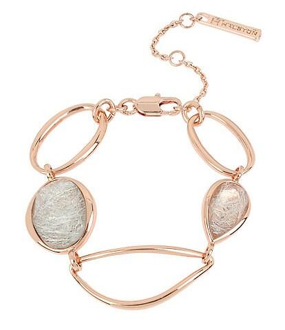 H Halston Mixed Stone Sculptural Link Bracelet
