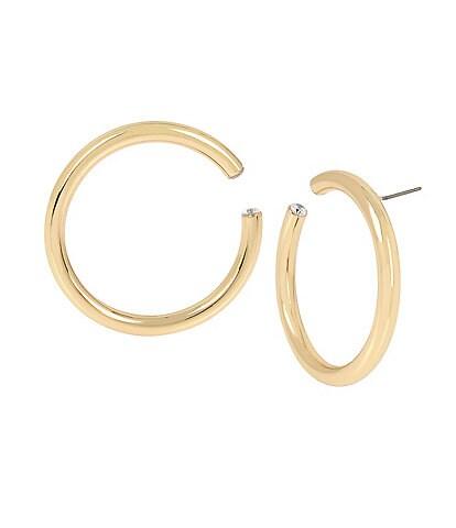 H Halston Tube Hoop Earrings