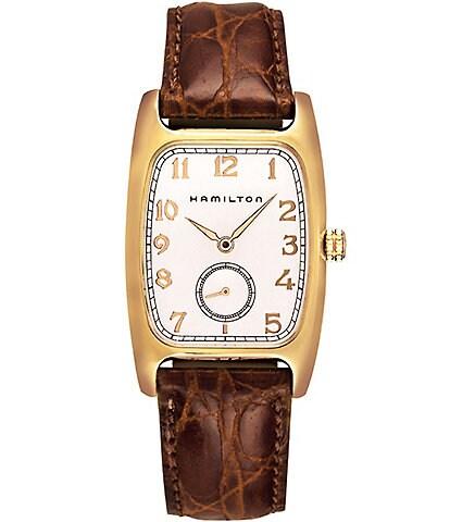Hamilton Boulton Analog Leather-Strap Watch
