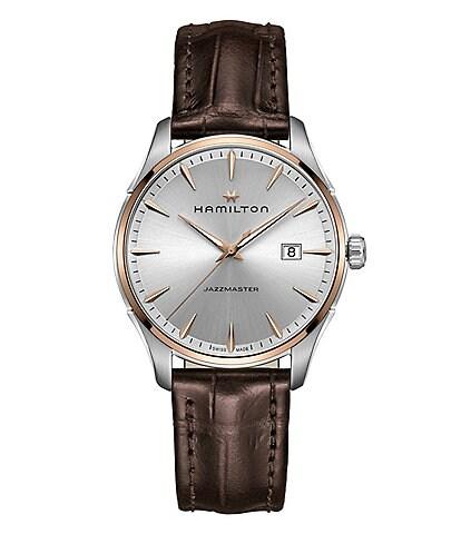 Hamilton Jazzmaster Gent Analog & Date Leather-Strap Watch