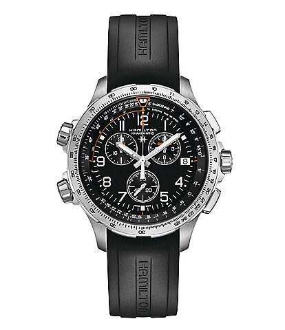 Hamilton X-Wind Chronograph & Date Rubber-Strap Watch
