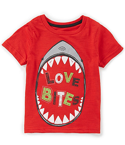 Hollywood Little Boys 2T-7 Short-Sleeve Valentine's Day Love Bites Graphic Tee