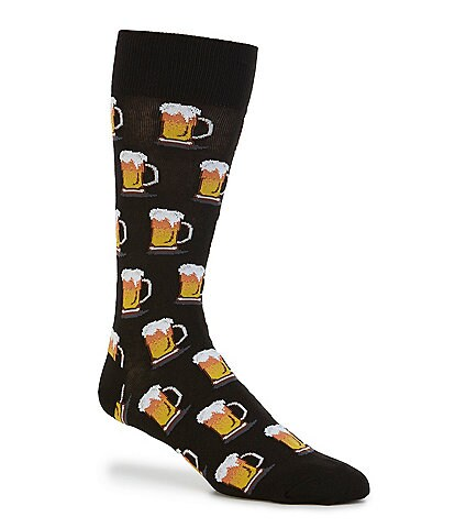 Hot Sox Novelty Beer Crew Socks