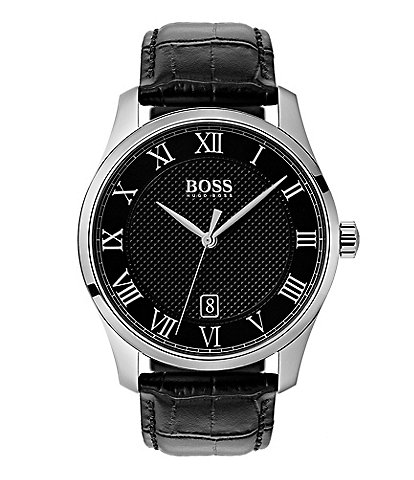 Hugo Boss THE BOSS WATCHES MASTER COLLECTION Black Croc Leather Watch