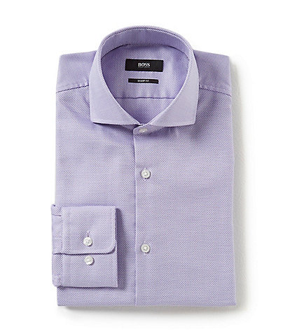 HUGO Hugo Boss Sharp Fit Spread Collar Solid Dress Shirt