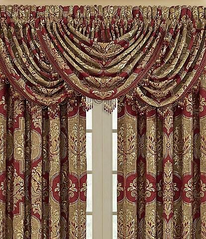 J. Queen New York Maribella Crimson Window Treatments