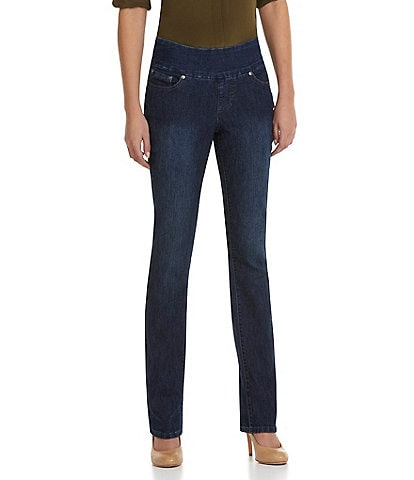 Jag Jeans Peri Straight-Leg Pull-On Jeans