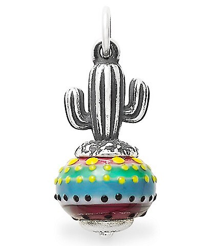 James Avery Cactus Art Glass Charm