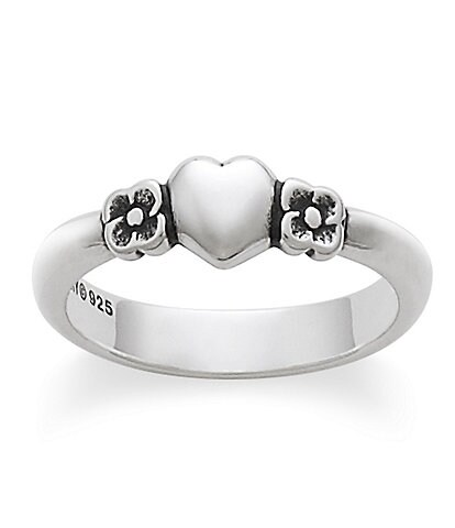 James Avery Child Heart with Flowers Ring