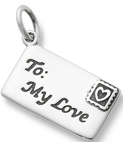 James Avery Enamel and Sterling Silver Love Letter Charm