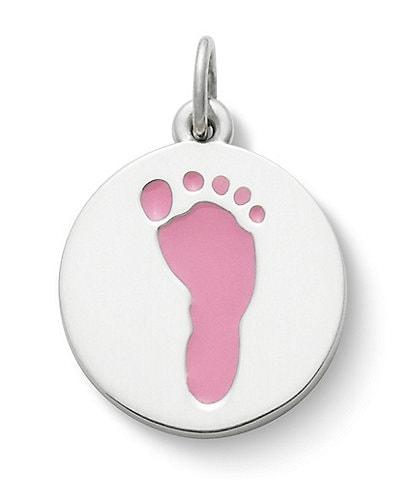 James Avery Enamel Baby Girl Footprint Charm
