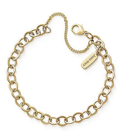 James Avery Forged Gold Link Charm Bracelet