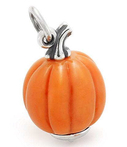 James Avery Harvest Pumpkin Art Glass Charm