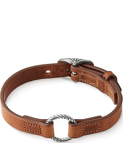 James Avery Leather Changeable Charm Bracelet