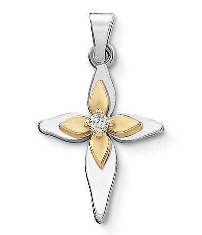 James Avery Light of Christ Cross Pendant with Diamond