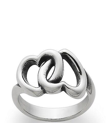 James Avery Linked Hearts Ring