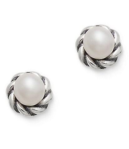 James Avery Petite Freshwater Cultured Pearl Stud Earrings