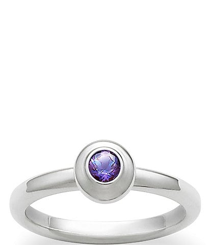 James Avery Remembrance Ring June Birthstone with Lab-Created Alexandrite
