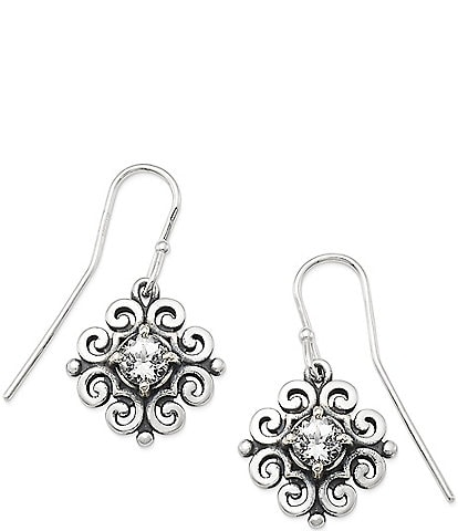 James Avery Scrolled Ear Hooks with April Birthstone