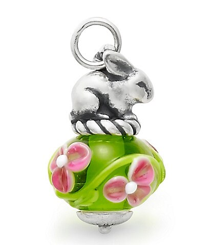 James Avery Spring Bunny Art Glass Charm