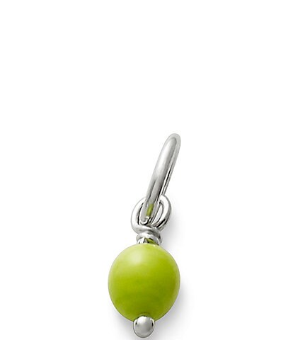 James Avery Sterling Silver Glass Bead Enhancer Charm