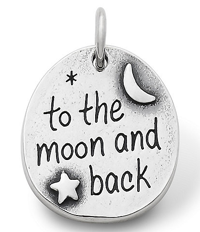 James Avery To the Moon and Back Sterling Silver Charm